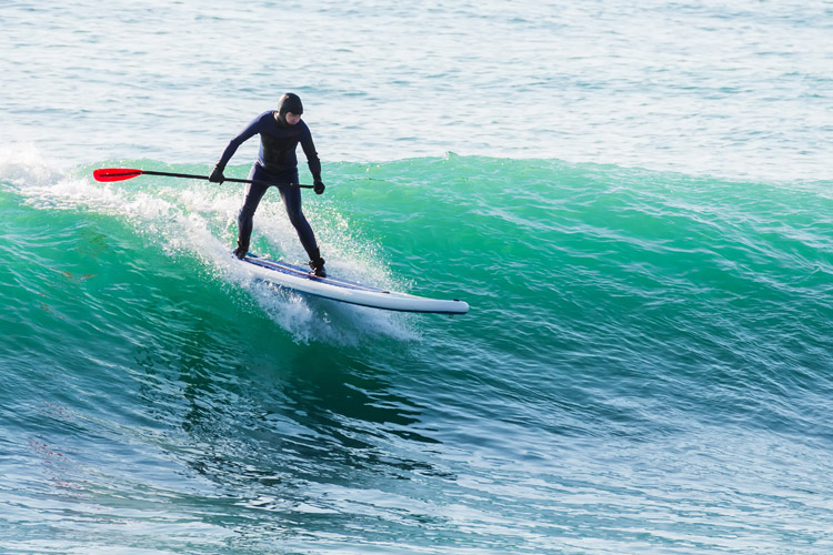 Stand-up paddleboarding: surfers are not fans of SUP | Photo: Shutterstock