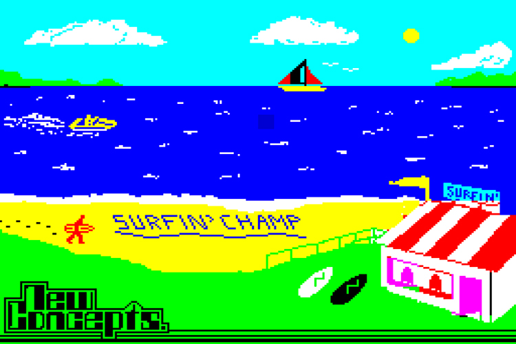 Surf Champ: the world's first surfing simulator game was released in 1985 by New Concepts