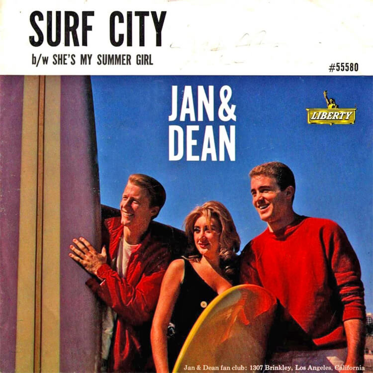 Surf City: the song written by Brian Wilson was the first by Jan and Dean to become a national number one hit