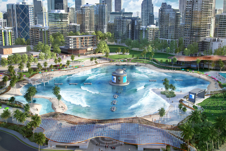 Surf Lakes: the small scale wave pool will cost $20 million | Photo: Surf Lakes