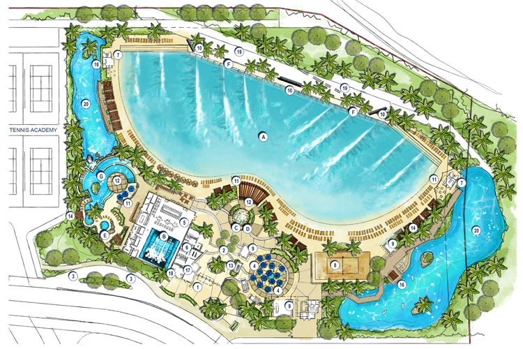 Surf the Wave Vietnam: the massive water sports center will be located east of Ho Chi Minh City | Illustration: Endless Surf