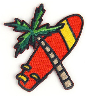 Surfboard & Palm Tree Patch