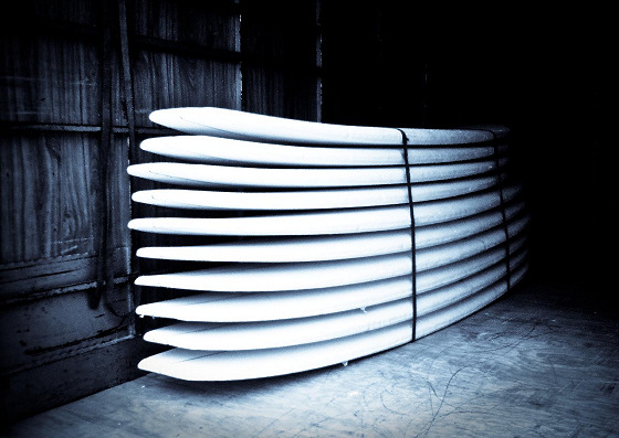 Surfboard planks: ready to be shaped in new forms | Photo: Radich Stuart Surf Blanks