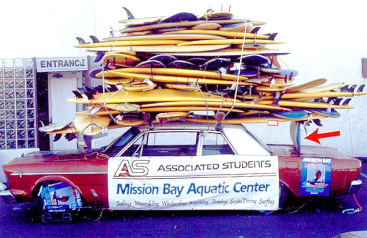 Stacked surfboards in a car: is that a world record?