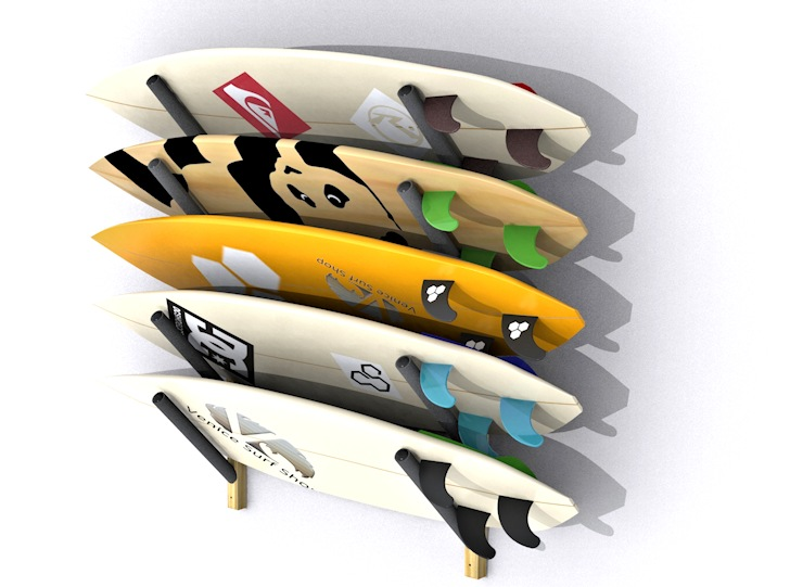 Surfboard wall racks: protect and store your favorite sticks | Photo: Venice Surf Racks