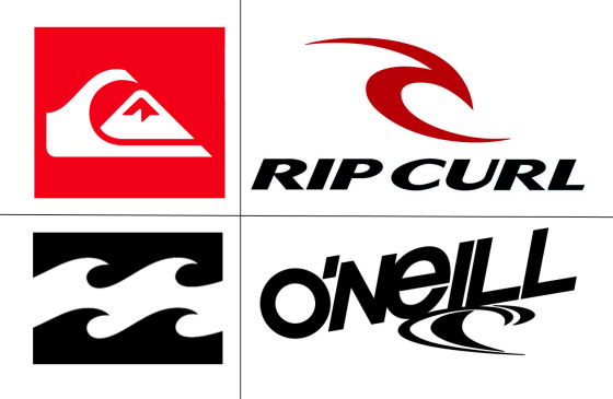 Surf companies: red, black and white power