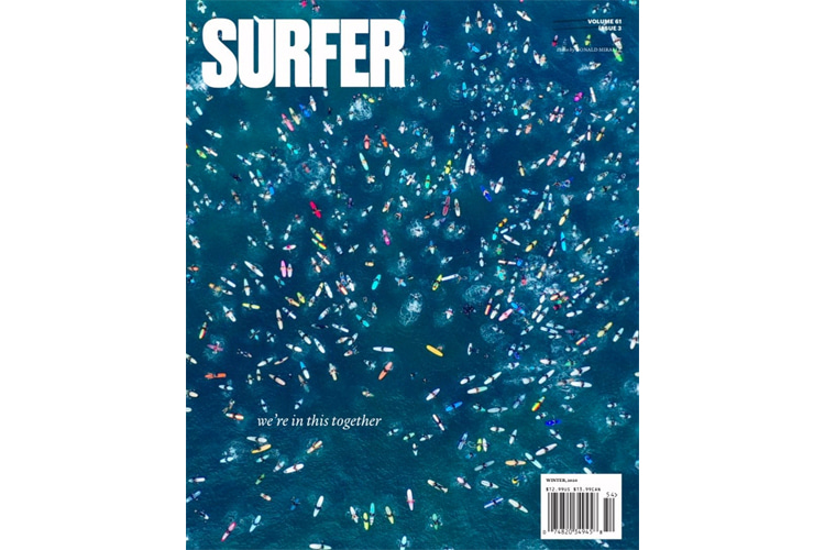 Surfer Magazine: the final issue features a cover shot by Donald Miralle