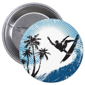 Surfer Button Badge
