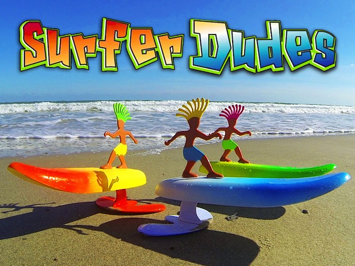 Surfer Dudes: toy wave riders