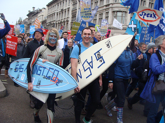 Surfers Against Sewage in the streets of London
