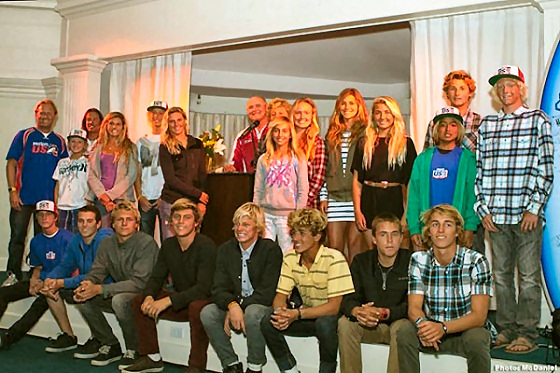 2011 PacSun USA Surf Team: blondes prevail
