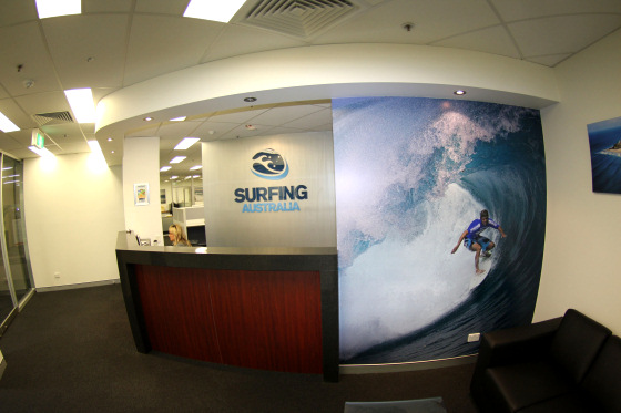 Surfing Australia's office in Coolangatta