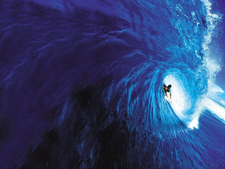 The surf barrel: stall and enjoy the ride