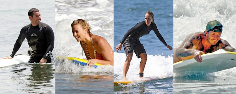 Surfing Celebrities: when stars decide to ride the waves