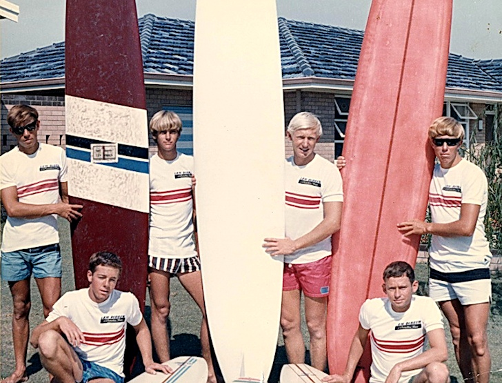 Surfing Down South: the Len Dibben Surf Team back in 1965 | Photo: surfingdownsouth.com.au