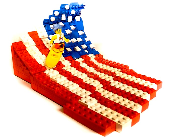 Surfing in Legoland: a patriotic hommage