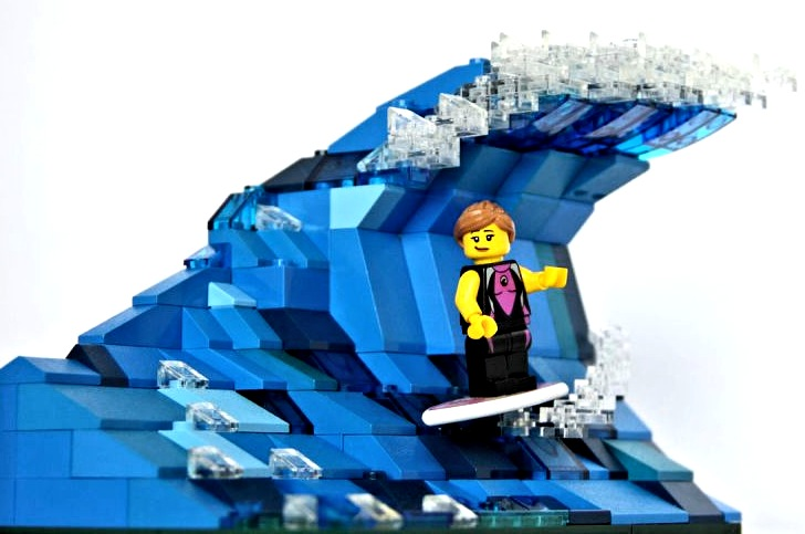 Surfing in Legoland: riding waves in business suits