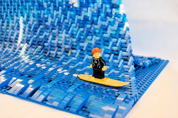 Surfing in Legoland: big wave riding