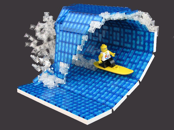 Surfing in Legoland: Laird Hamilton and the Millennium Wave (left) vs the Rocket Surfer