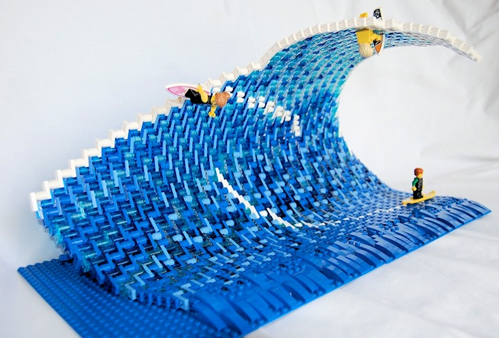 Surfing in Legoland: three surfers with three different fates