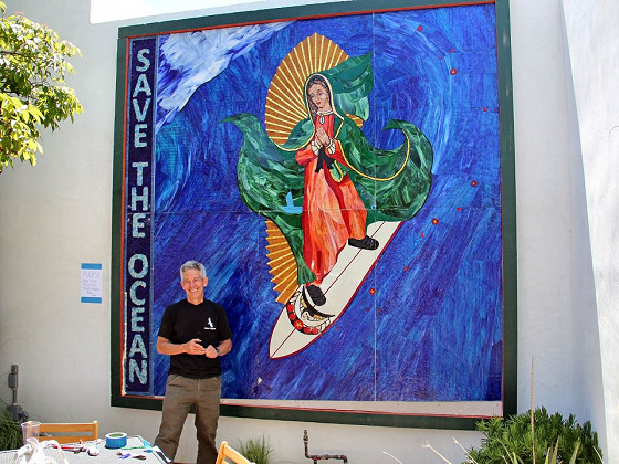 Surfing Madonna: the art piece and the creator