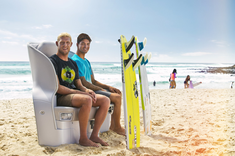 Surfing Safari: will Air New Zealand charge them for their onboard quiver?