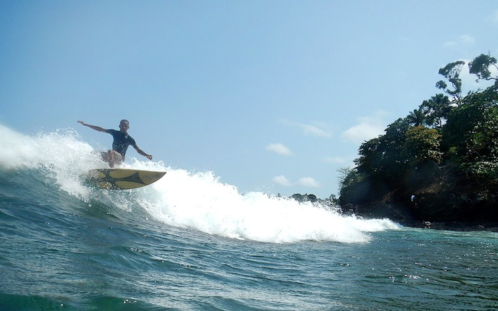 Sao Tome e Principe: perfect warm waves, skilled surfers