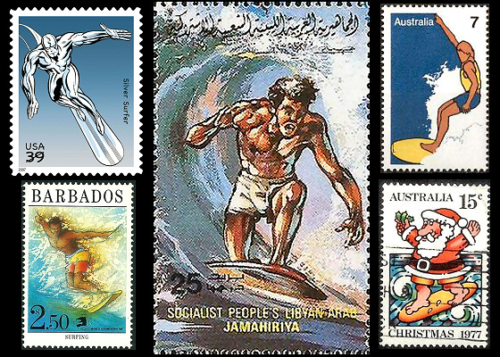 Surfing Stamps: surfing in Lybia is a reality