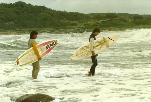 Swedish surfing pioneers: Ake Gylling and Per Torstensson in the 80's