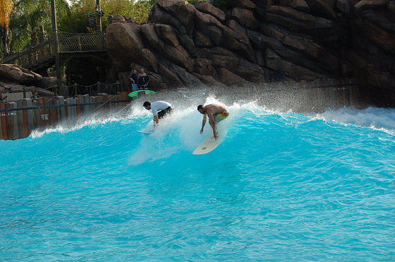 Typhoon Lagoon: surfing in chlorinated water