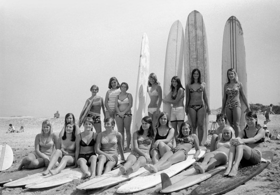 Australian surfer girls in Cronulla, back in 1962