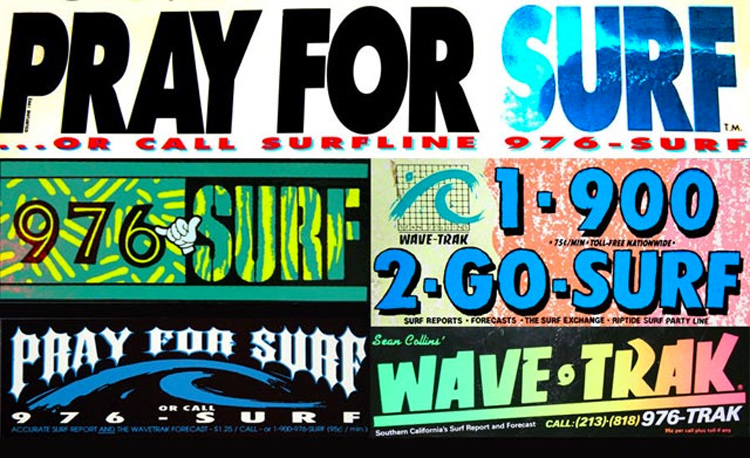 Surfline and Wavetrak: promotional stickers from back in the day