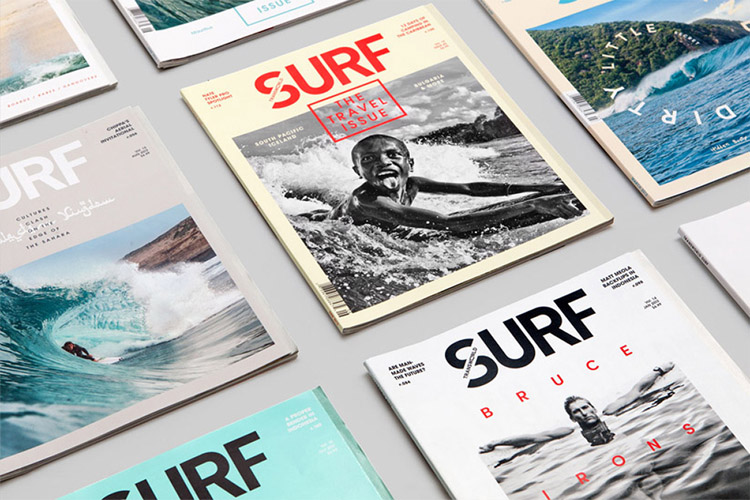 Surf magazines: more than 400 titles were published between 1960 and 2002 | Photo: Wedge & Lever