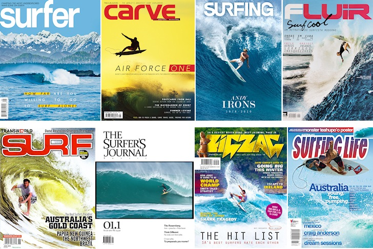Surf magazines: an inspiration for the real waves