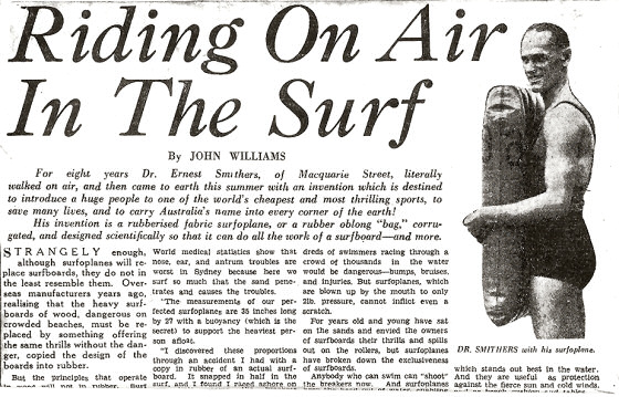 Surf mats: making the headlines in the 1930s