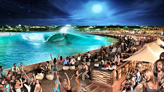 Surf Parks: getting barrel under the moonlight | Photo: Webber Wave Pools