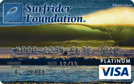 The new Surfrider Foundation Visa Platinum® Rewards Card
