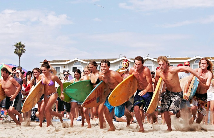 Surf Rodeo: there's free beer out in the line-up