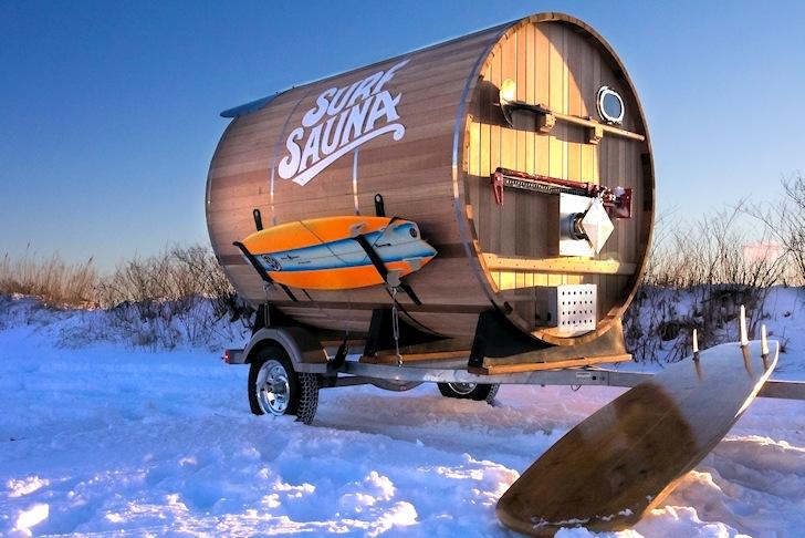 """Surf Sauna"" heats up cold water surfers"