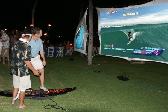 Hawaii Surf Simulator: lo-fi indoor surfing experience
