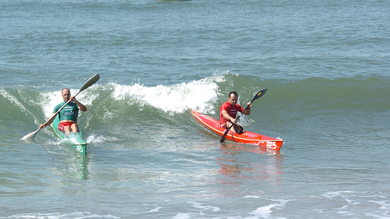 Surfski: they even drop in like we do
