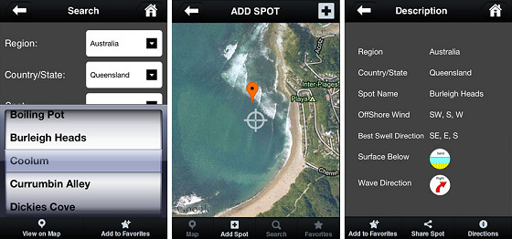 Surfspotting: find the nearest surf spot with your iPhone