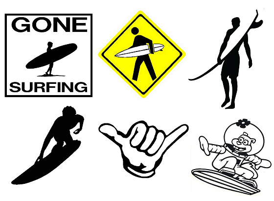 Surfboard decals: only a sticker knows the feeling