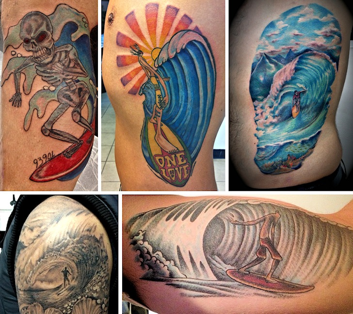 Surf tattoos: creativity is a universal skill