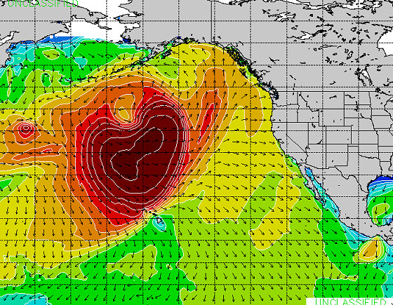 23rd February, 2014: large swell hits Hawaii