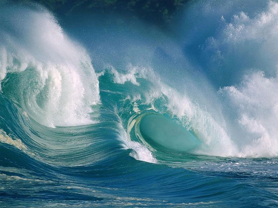 Huge waves have hit Hawaii during Christmas