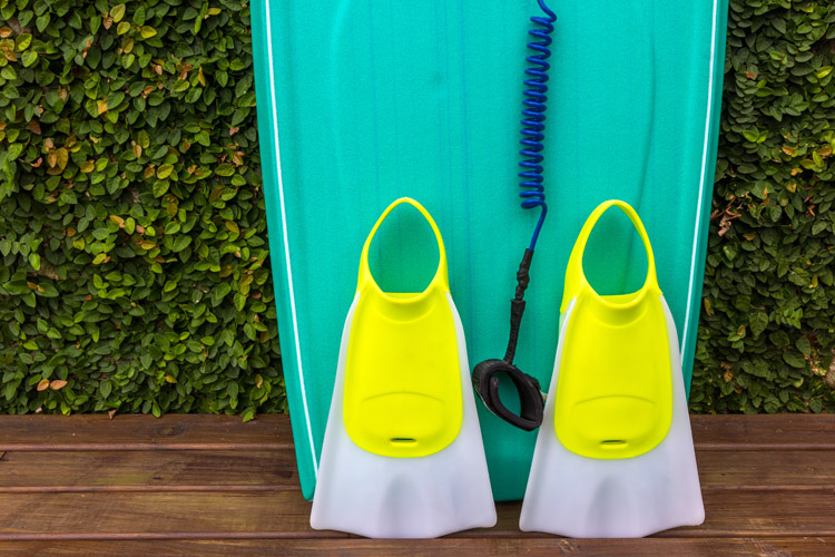 The swim fin size chart