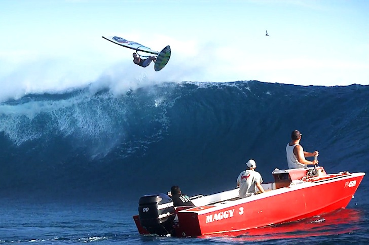 Teahupoo: who said windsurfers can't take it?