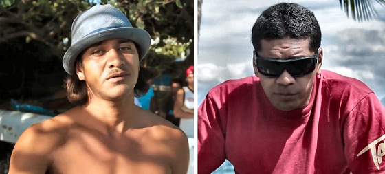 David Tuarau and Heiarii Williams: no tow-in surfing in Sapinus