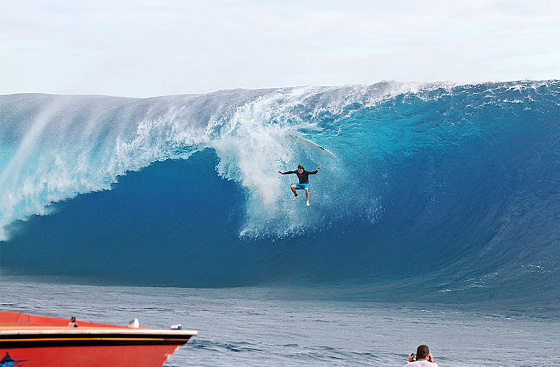 Tahiti: a place where wipe outs are quite frequent